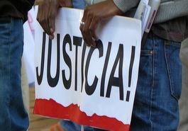 Pancarta Justicia
